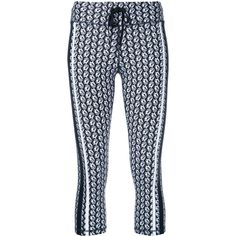 The Upside Sailor Print Cropped Leggings (4,390 INR) ❤ liked on Polyvore featuring pants and leggings
