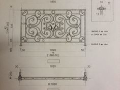 Wrought Iron Juliet Balcony sold by Architectural Stone & Iron Products Canada - Drawing Print