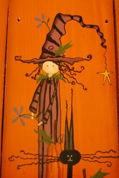 Large Wired Witch Pumpkin - Decorative & Tole Painting Forum - GardenWeb