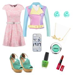 """""""Spring/summer look"""" by voicegirls ❤ liked on Polyvore featuring Club L, Accessorize, Minnie Grace, NYX and OPI"""