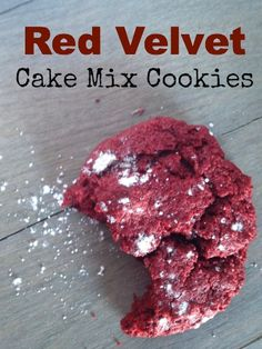 Red Velvet Cake mix cookies  - Delicious cookies made with a cake mix!