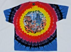 85b927951 Liquid Blue T Shirt 2XL 1999 Tie Dye Alice in Wonderland Fantasy Tee  Mushroom  LiquidBlue
