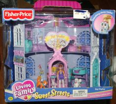 NEW 2003 Fisher Price Loving Family SWEET STREETS PET PARLOR SHOP Dollhouse #FisherPrice