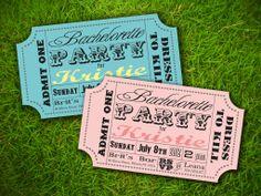Circus Ticket Wedding Invitation Fun Fair Carnival Colourful