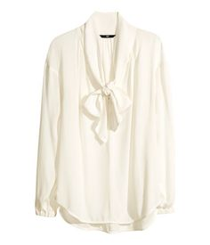 White Bow Blouse H&M 26