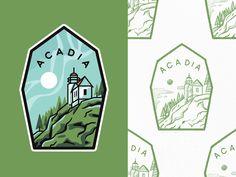 Acadia National Park acadia national park type design adventures lineart travel line art branding outline illustration logo badge typography lighthouse Logo Branding, Branding Design, Logos, Acadia National Park, National Parks, Graphic Design Illustration, Outline Illustration, Simple Prints, Parking Design