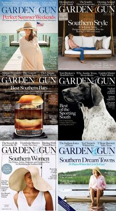 Garden and Gun magazine. Southern lifestyle at its finest. One of my favorite pubs. And I'm a northern gal!