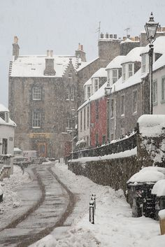 Queensferry In Snow, Edinburgh, Scotland Places Around The World, Oh The Places You'll Go, Places To Travel, Places To Visit, Around The Worlds, England And Scotland, Scotland Uk, Glasgow Scotland, Belle Villa