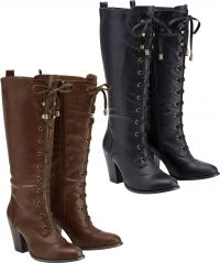 Lace Up Tall Boots