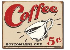 This 16 inch by 12.5 inch vintage coffee poster is easy to hang with pre-drilled holes. Reviewers like the weathered, distressed look without the rust.