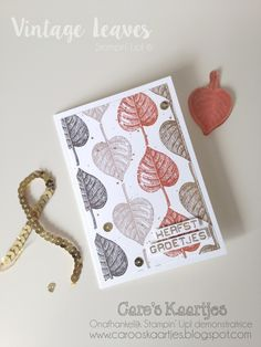 Caro's Cards - for Stampin 'Up! inspiration and ordering Stampin 'Up! Products: Vintage Leaves day 3