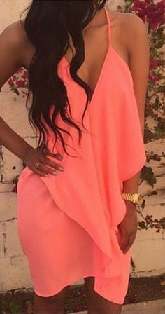 CORAL #HALTER BACK DRESS Price:- $40.00 Today's Price:- $29.00 *MATERIAL: POLYESTER *MACHINE WASH *COLOR AVAILABLE: CORAL PINK See detail at- http://www.fashionfrenzzie.com/coral-halter-back-dress/