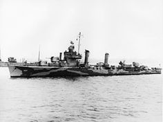 USS Emmons (DD-457/DMS-22) Sunk after being hit by five kamikaze aircraft off Okinawa, 6 April 1945.