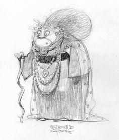 Brave: Character Design: Carter Goodrich https://www.facebook.com/CharacterDesignReferences