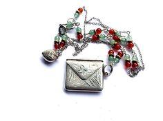 Long Charm Necklace Long Pendant Necklace Long by FribblePistol