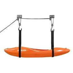 Made something like this for overhead kayak storage in garage