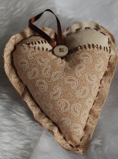 brown patterned heart