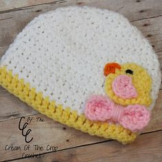 Preemie Chick Applique Hat pattern by Cream Of The Crop Crochet
