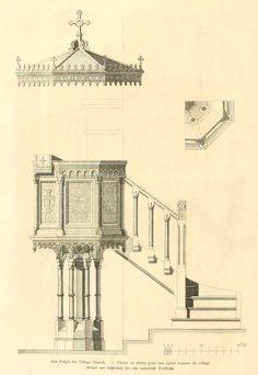Coupe d une glise romane de plan basilical ici une - Mobilier jardin d ulysse saint etienne ...