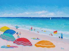 Beach painting  by JanMatsonArt,