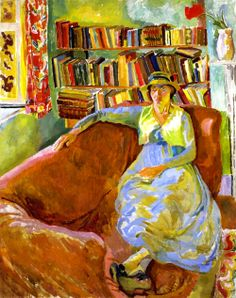 Vanessa Bell at Charleston by Duncan Grant - 1917