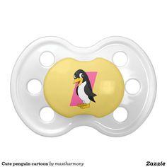 Cute penguin cartoon BooginHead pacifier