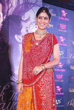 "Shakshi Tanwar at The Launch of ""EK THHI NAAYKA"" TV Serial."