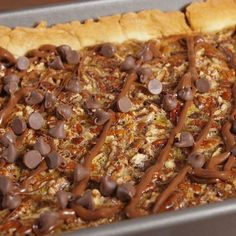 Chocolate Pecan Slab Pie  - Delish.com