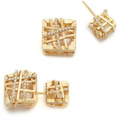 Joanna Laura Constantine CZ Cube Earrings