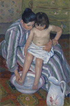 Mary Cassatt. The Child's Bath, 1893. The Art Institute of Chicago, Robert A. Waller Fund.