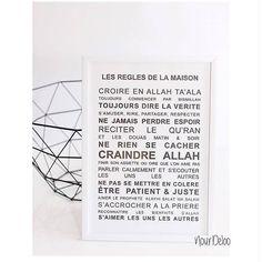 Poster Déco #1 – Les règles de la maison   Kariizmaa Design