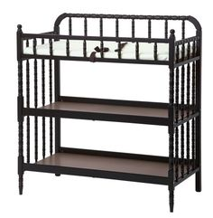 DaVinci Jenny Lind Baby Changing Table - Ebony - http://www.discoverbaby.com/new-arrivals/furniture/davinci-jenny-lind-baby-changing-table-ebony/