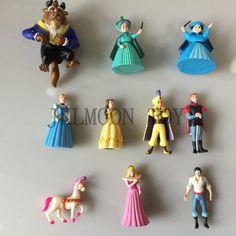 10 pçs/set Beauty and the Beast Princesa Belle 5 8 cm Tamanho Fairy Tale Movie Action Figure Brinquedos Livre grátis em Figuras de ação & Toy de Brinquedos Hobbies & no AliExpress.com | Alibaba Group