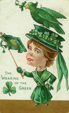 Humorous St Patrick's Day postcard circa 1910.