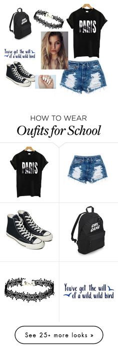 """school daze"" by lilleykenslea on Polyvore featuring Converse"