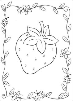 Big strawberry coloring page. Find your favorite Big strawberry coloring page in STRAWBERRY SHORTCAKE coloring pages section. Print this Big strawberry . Fruit Coloring Pages, Cute Coloring Pages, Coloring Pages For Girls, Coloring For Kids, Free Coloring, Coloring Sheets, Coloring Books, Online Coloring, Strawberry Drawing