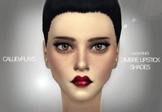 5 shades of dark ombre lipstick at CallieV Plays via Sims 4 Updates