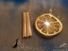 Zur Weihnachtszeit gehören nicht nur Lichter sondern auch getrocknete Früchte und Zimtstangen, die einen herrlichen Duft verströmen :-) Make Myday Die Abenteuer der kleinen Fee Als Kalender und auf Wunsch jedes Motiv als FineArtPrint erhältlich. Mehr HerzLichtprodukte findest Du im Shop. http://www.spielweltv3galerie.com/shop/