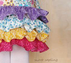 Little Girls Ruffle Skirt, Toddler Skirt, Girly Skirt, Twirl Skirt, Girls Boutique Skirt, Colorful Skirt. , via Etsy.