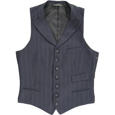 Yohji Yamamoto Men's Pin Striped Vest ($1,150) ❤ liked on Polyvore