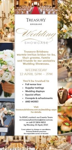 Visit us at the George and King Stand at the 'Wedding Showcase Event' at The Treasury Casino and Hotel Brisbane on APril 12th at 5pm. RSVP if interested.
