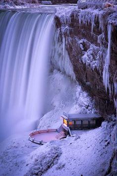 Depictions of Niagara Falls. -