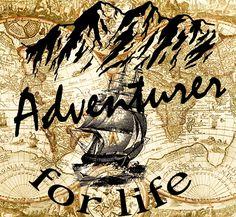 Adventurer for life- Travel poster