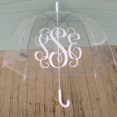 Monogram unbrella by HaliesMonograms on Etsy