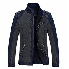 2015 yeni sonbahar patchwork jaqueta de Couro erkek moda ince jaqueta de Couro masculina artı boyutu 3xl pu deri ceket D71