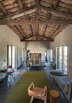 interni | © Mattia Aquila Interior And Exterior, Interior Design, Balearic Islands, Mediterranean Homes, Exposed Beams, Loft, My House, Restoration, Indoor