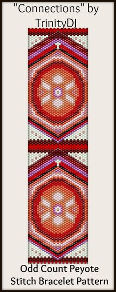 """New Bracelet pattern - """"Connections"""" available as direct download and/or kit. Please follow this link for more info: http://cart.javallebeads.com/Connections-Odd-Count-Peyote-Stitch-Pattern-p/td097.htm"""