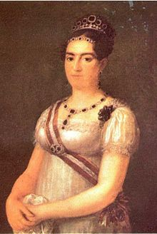Maria Francisca of Portugal (1800 - 1834). Daughter of Joao VI and Charlotte of Spain. She married Carlos V of Spain and had three children.