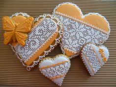 ♥ Valentines Day Cookies, Mother's Day Cookies, Lace Cookies, Heart Cookies, Cupcake Cookies, Sugar Cookies, Biscuit Decoration, Dessert Decoration, Sugar Cookie Royal Icing
