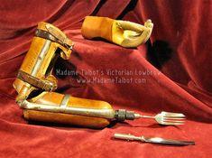 Victorian-era eating utensil arm